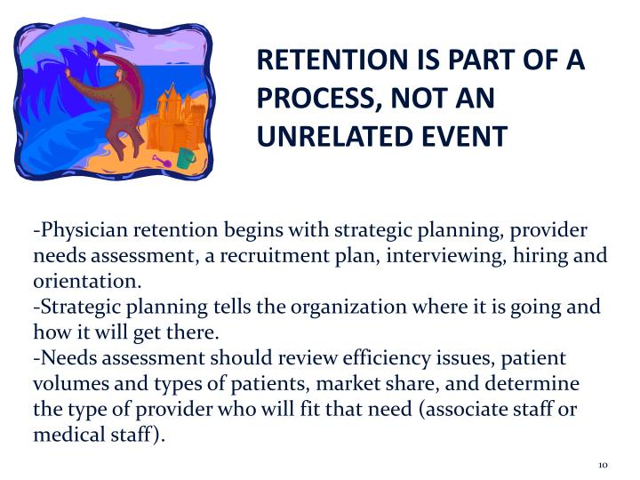 RETENTION IS PART OF A PROCESS, NOT AN UNRELATED EVENT