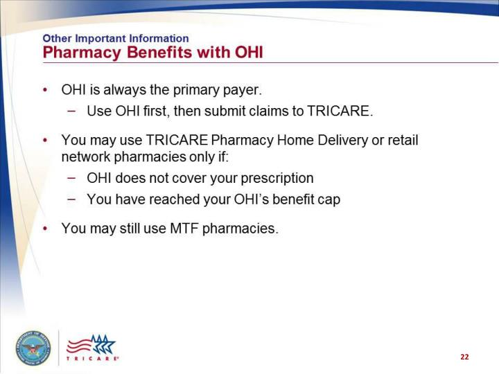 Other Important Information: Pharmacy Benefits with OHI