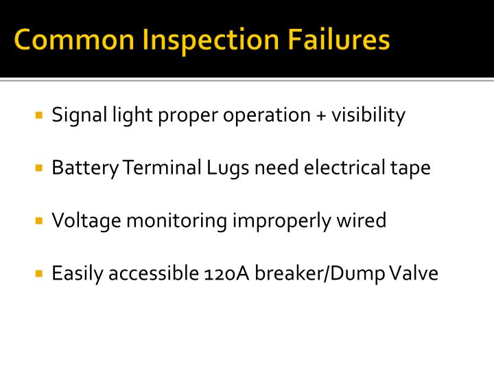 Common Inspection Failures
