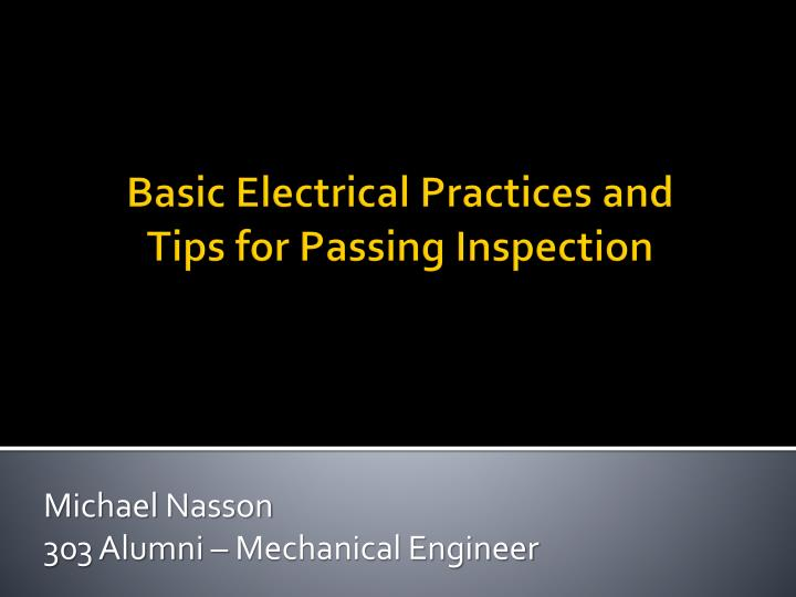 Michael nasson 303 alumni mechanical engineer