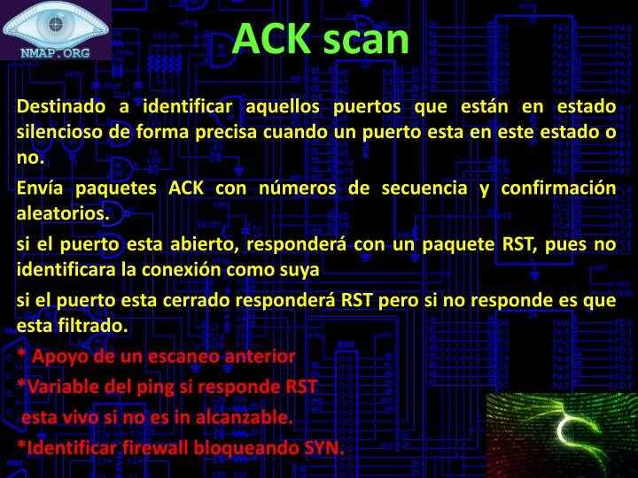ACK scan
