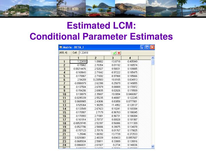 Estimated LCM: