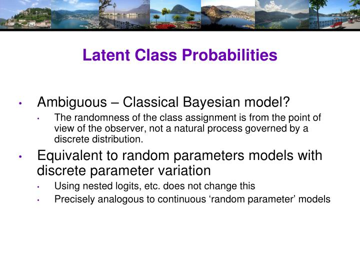 Latent Class Probabilities