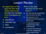 lesson review8