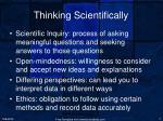 thinking scientifically