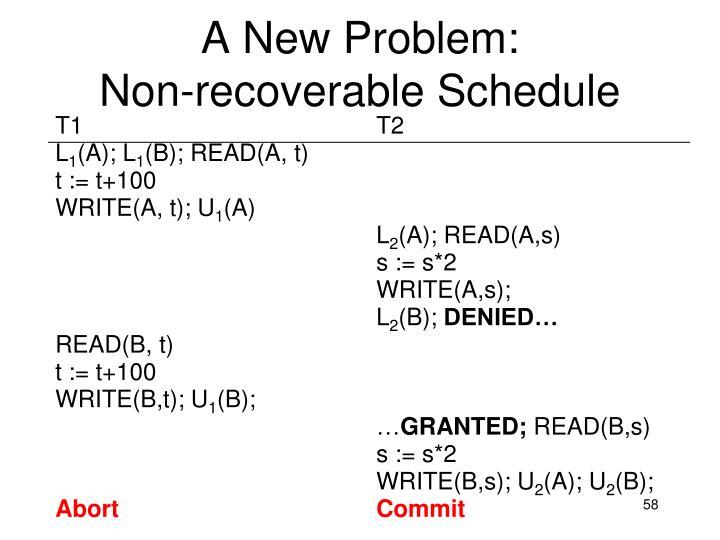 A New Problem:
