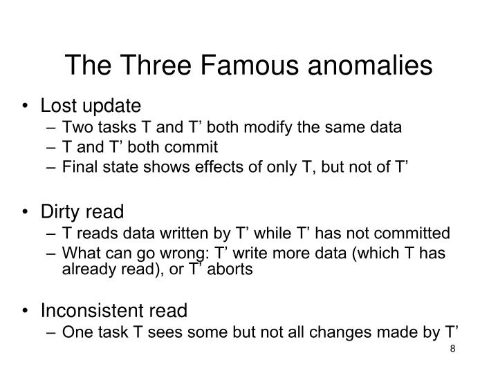 The Three Famous anomalies