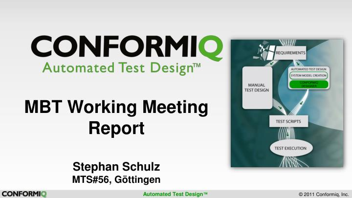 Mbt working meeting report stephan schulz mts 56 g ttingen