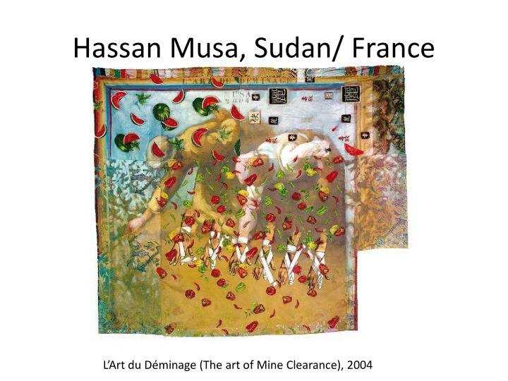 Hassan Musa, Sudan/ France