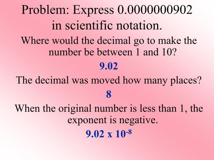 Problem: Express
