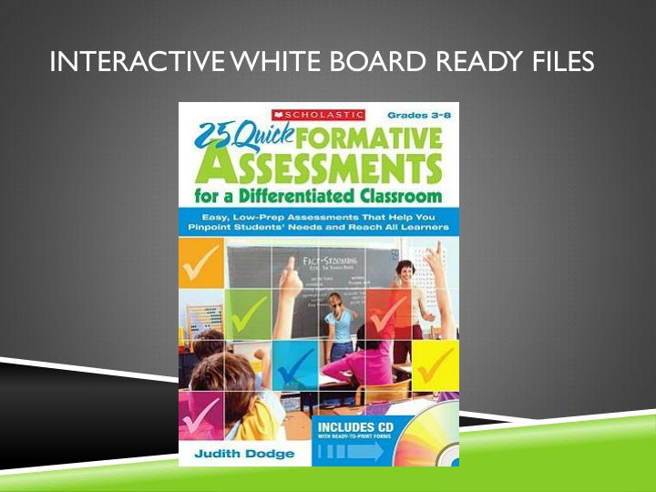 Interactive White Board Ready Files