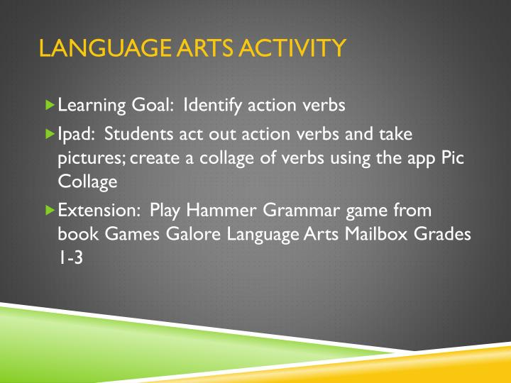 Language Arts Activity