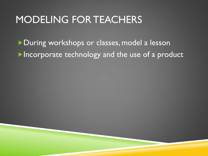 MODELING for Teachers