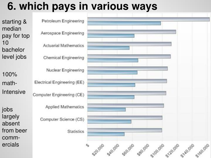6. which pays in various ways
