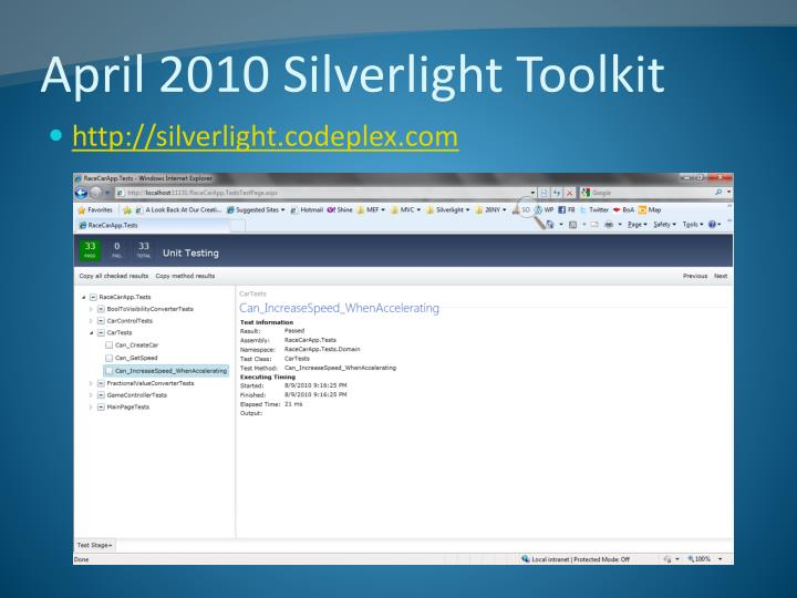 April 2010 Silverlight Toolkit