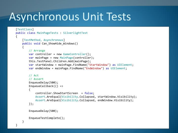 Asynchronous Unit Tests