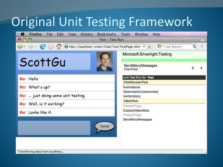 Original Unit Testing Framework