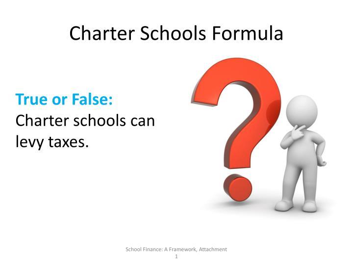 Charter Schools Formula