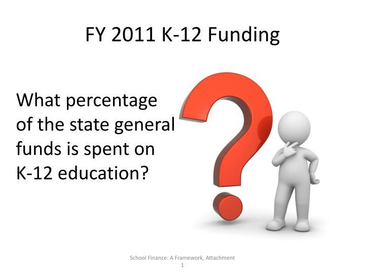 FY 2011 K-12 Funding