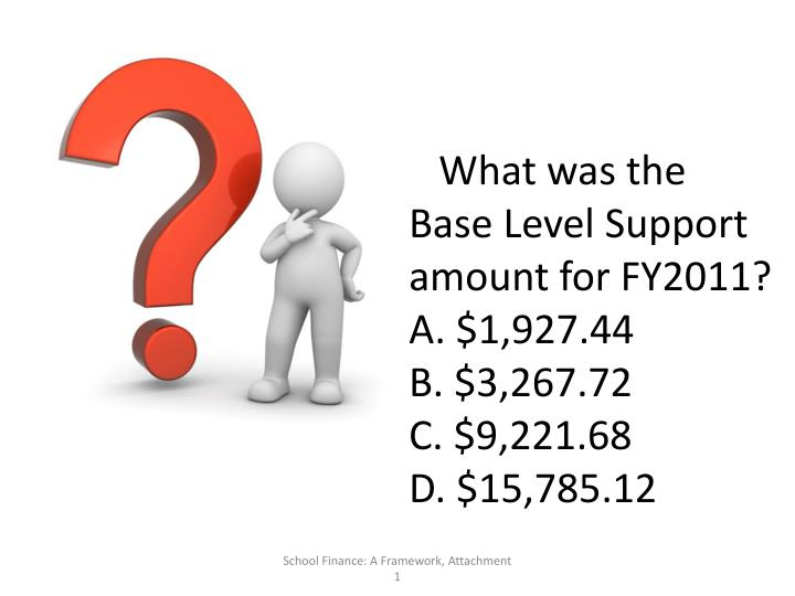 What was the Base Level Support amount for FY2011?