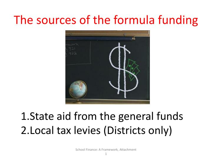 The sources of the formula funding