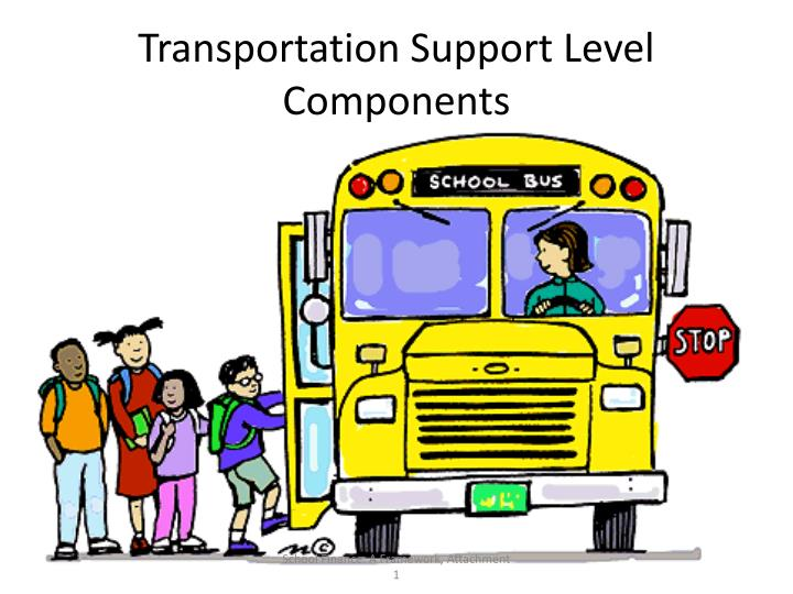 Transportation Support Level Components