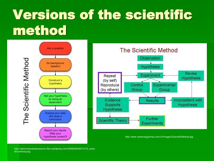 Versions of the scientific method