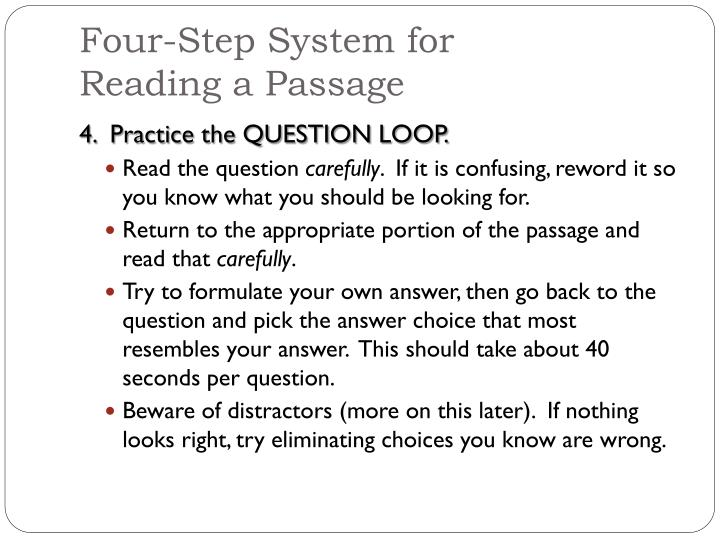 Four-Step System for