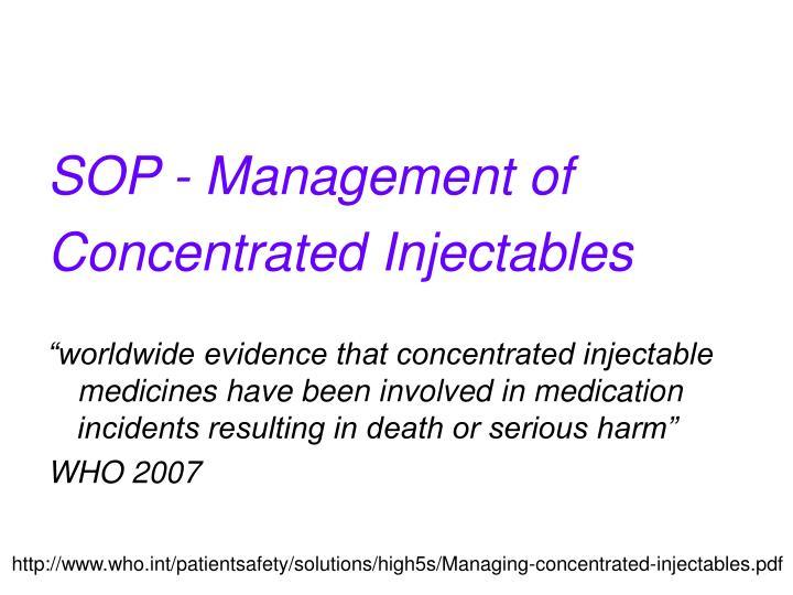 SOP - Management of
