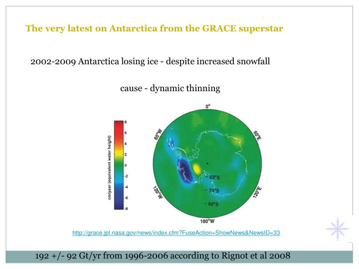 The very latest on Antarctica from the GRACE superstar