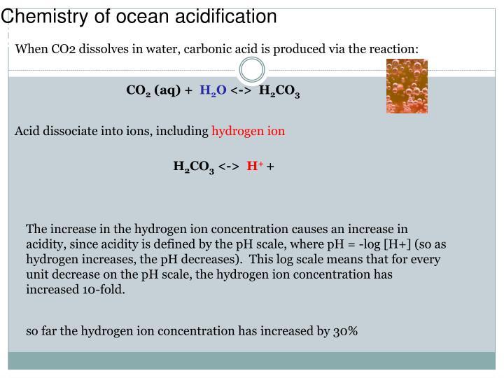 Chemistry of ocean acidification