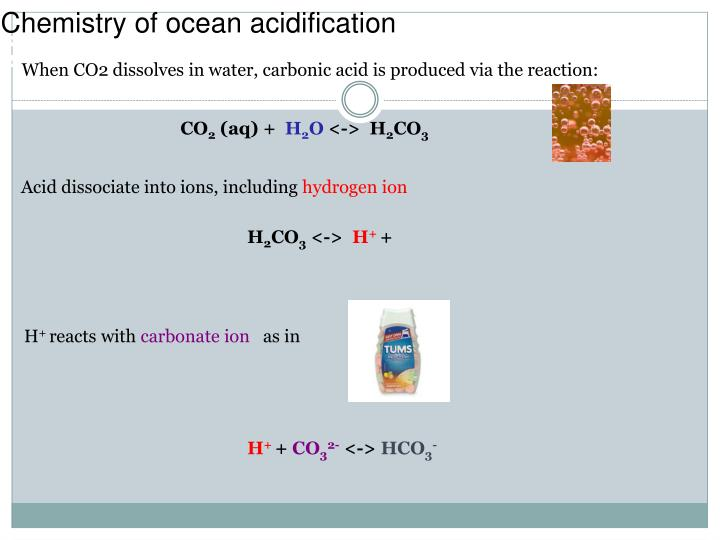 Chemistry of ocean acidification