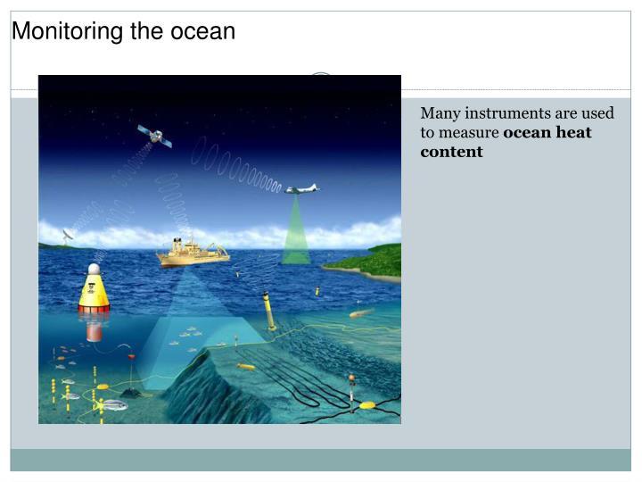 Monitoring the ocean