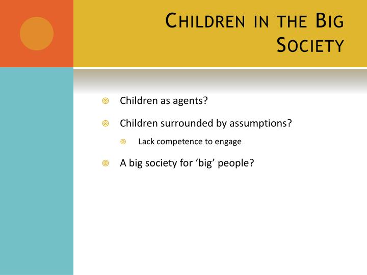 Children in the Big Society