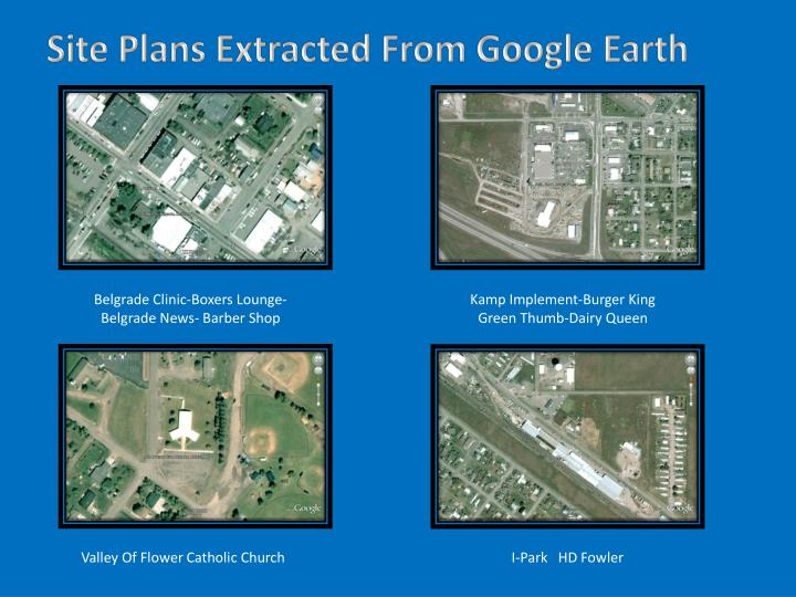 Site Plans Extracted From Google Earth
