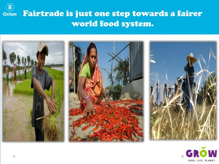 Fairtrade is just one step towards a fairer world food system.
