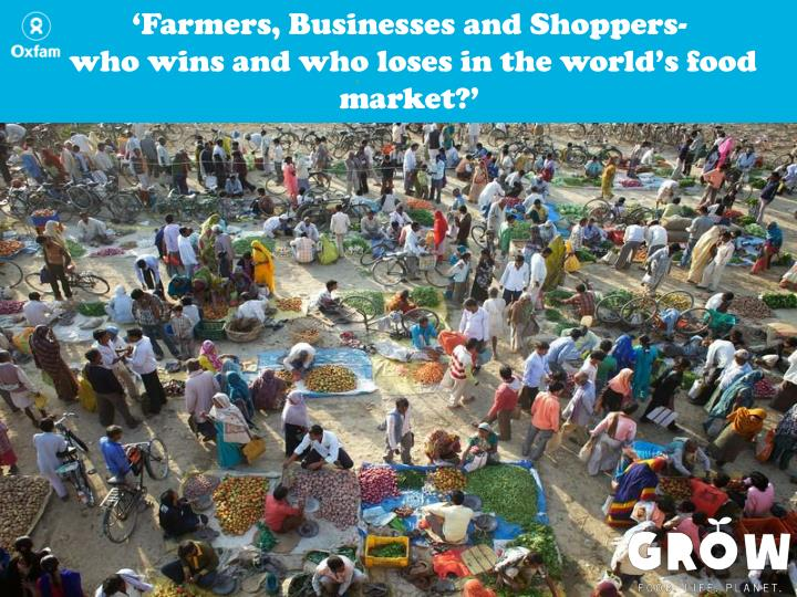 'Farmers, Businesses and Shoppers-