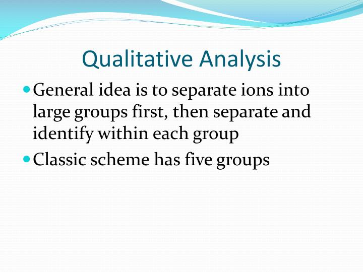 Qualitative analysis1