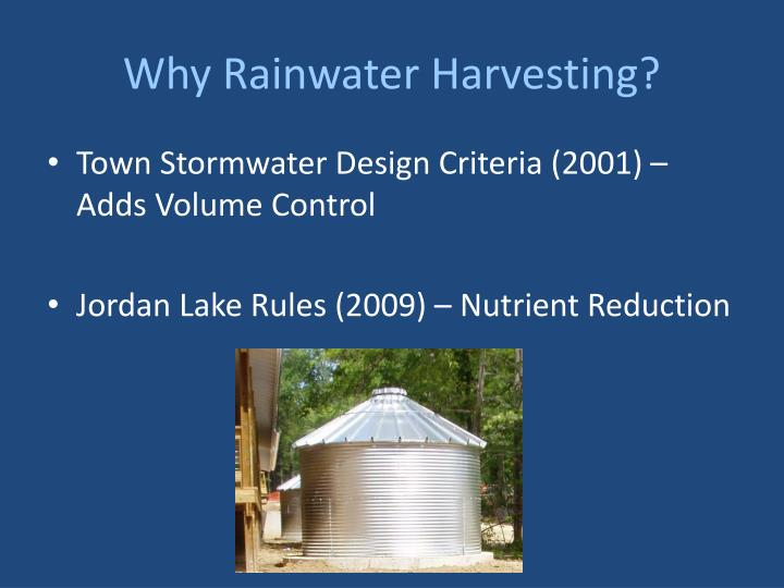 Why Rainwater Harvesting?