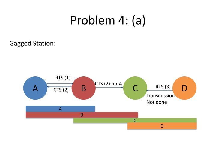 Problem 4: (a)