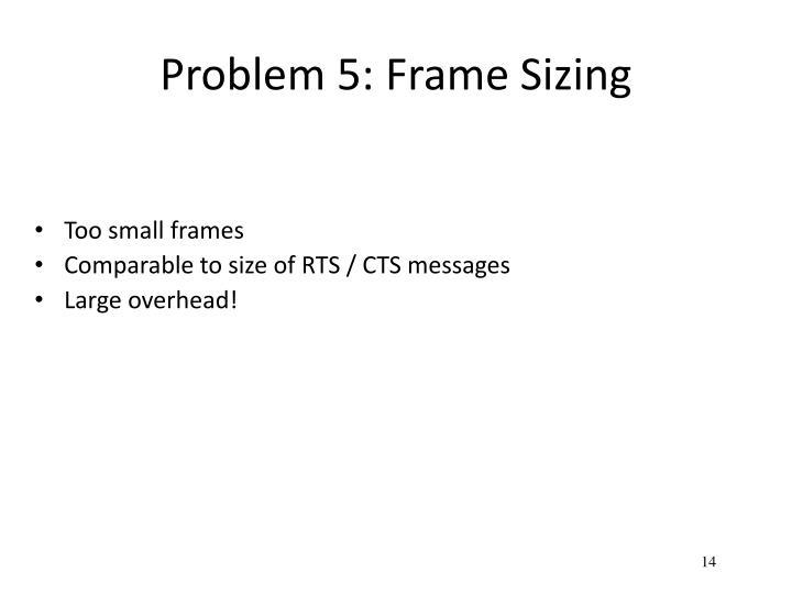 Problem 5: Frame Sizing