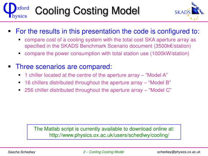 Cooling Costing Model