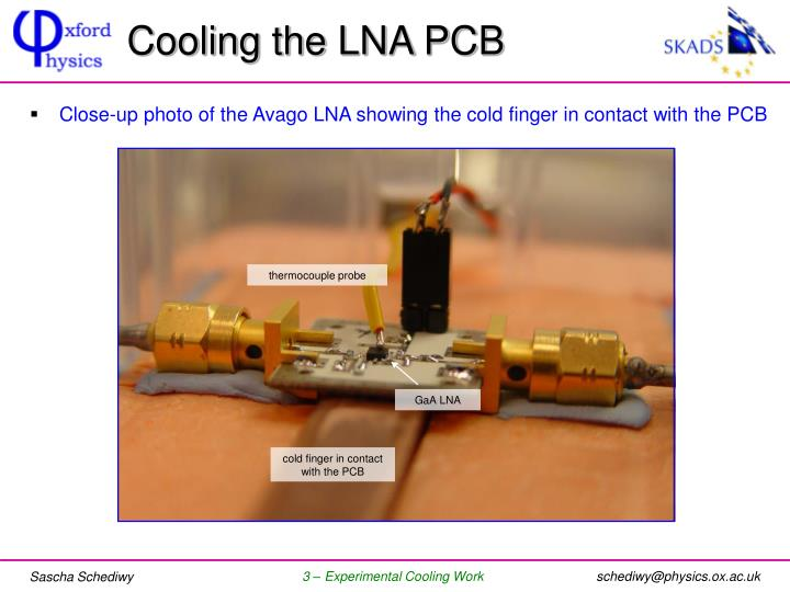 Cooling the LNA PCB