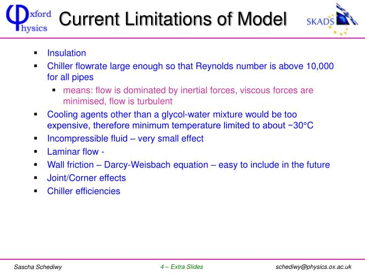 Current Limitations of Model