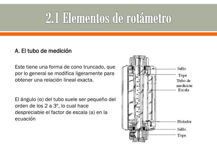 2.1 Elementos de rotámetro