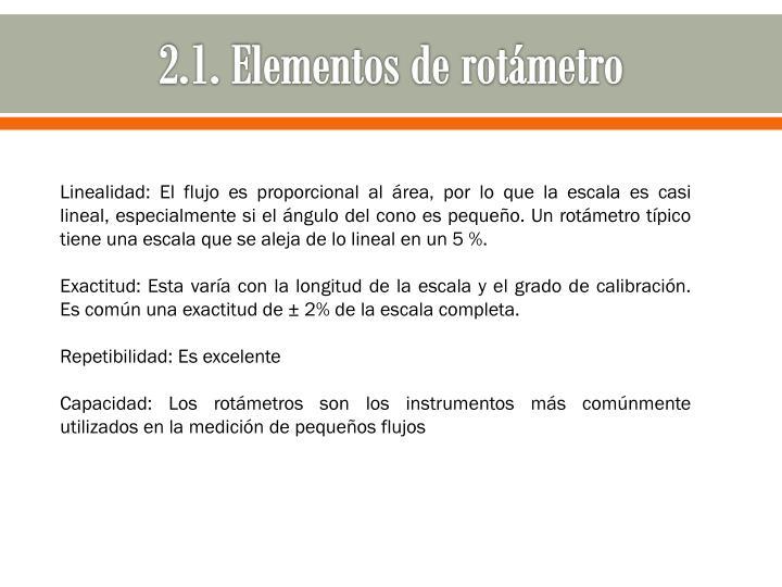 2.1. Elementos de rotámetro
