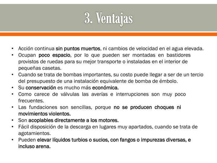 3. Ventajas