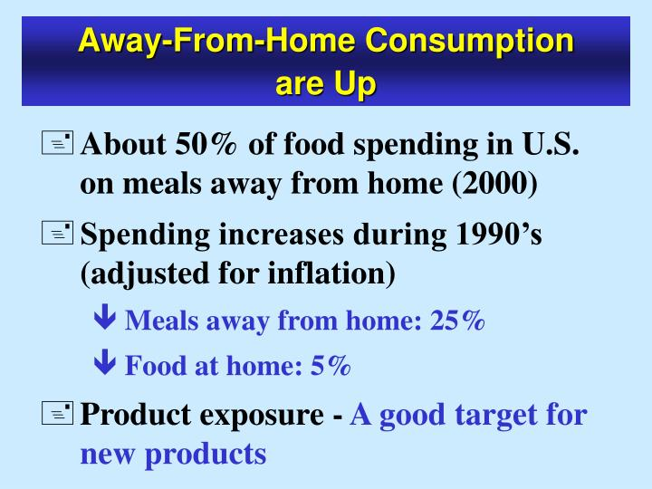 Away-From-Home Consumption