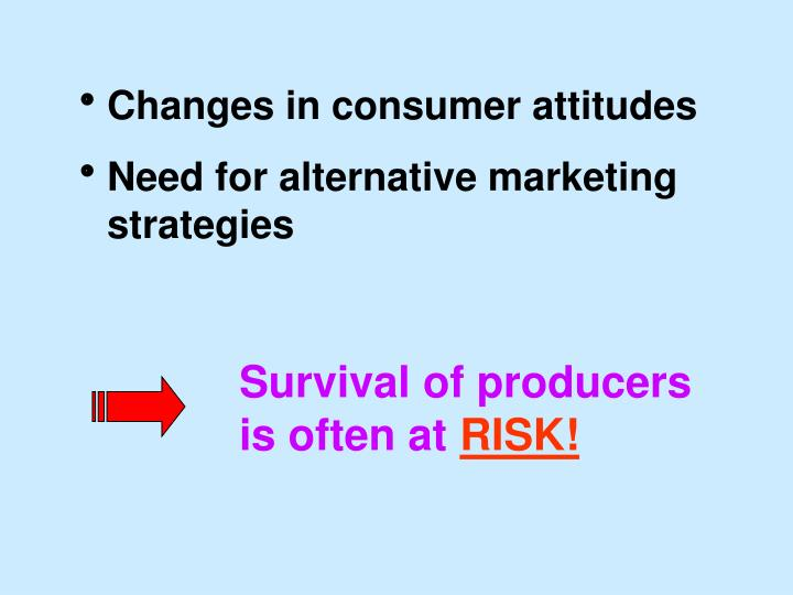 Changes in consumer attitudes