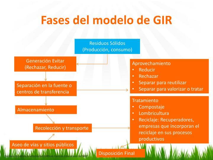 Fases del modelo de GIR